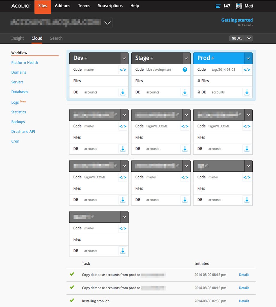 Acquia Cloud V2 (2013)