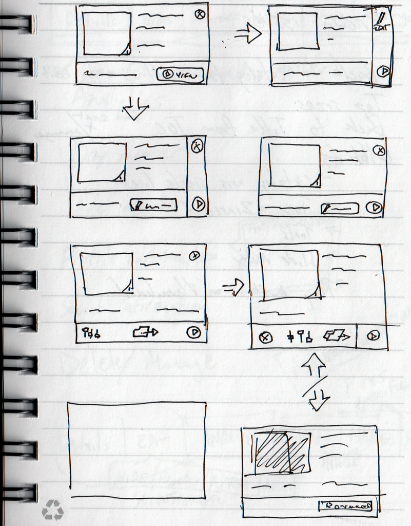 Sketches of presentation cards